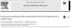 مقاله ترجمه شده بررسی قیمت گذاری و هماهنگی در زنجیره تامین با در نظرگرفتن سرقت برای کالاهای دیجیتال